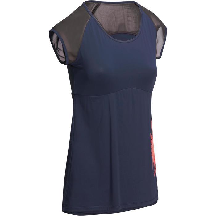 T-shirt galbant SHAPE+ fitness femme noir et violet - 1095115