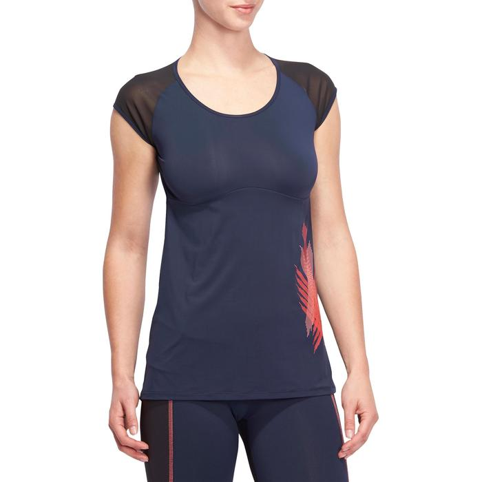 T-shirt galbant SHAPE+ fitness femme noir et violet - 1095200