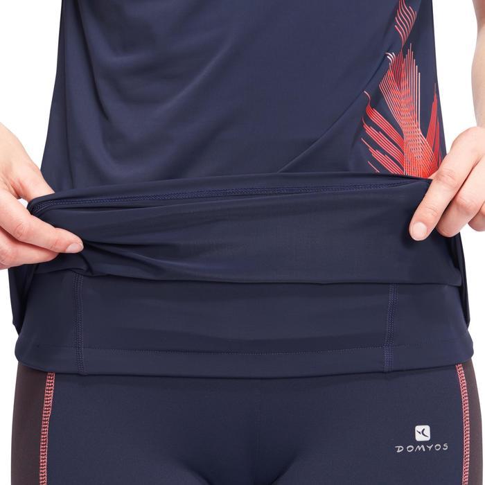 T-shirt galbant SHAPE+ fitness femme noir et violet - 1095225