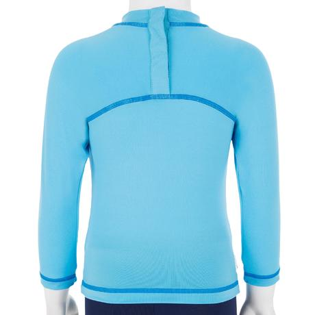 Baby Long Sleeve Uv Protection Surfing T Shirt Blue