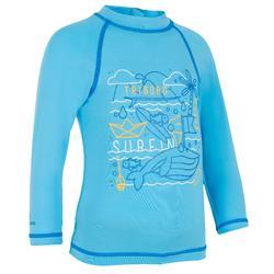 Uv-werend T-shirt met lange mouwen peuters surf