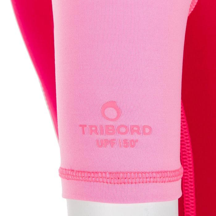 Uv-werende shorty met korte mouwen voor peuters roze