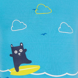 Baby Short Sleeve UV Protection Surfing Shorty T-Shirt - Blue