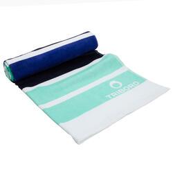 Handdoek Basic L print Rainbow Bluebird 145x85 cm - 1095378