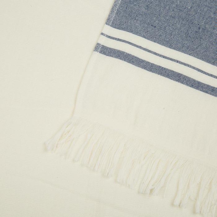Handdoek Fouta Avorio marineblauw 170 x 100 cm