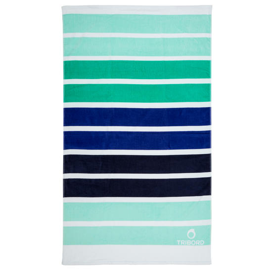 Handdoek Basic L print Rainbow Bluebird 145x85 cm - 1095394