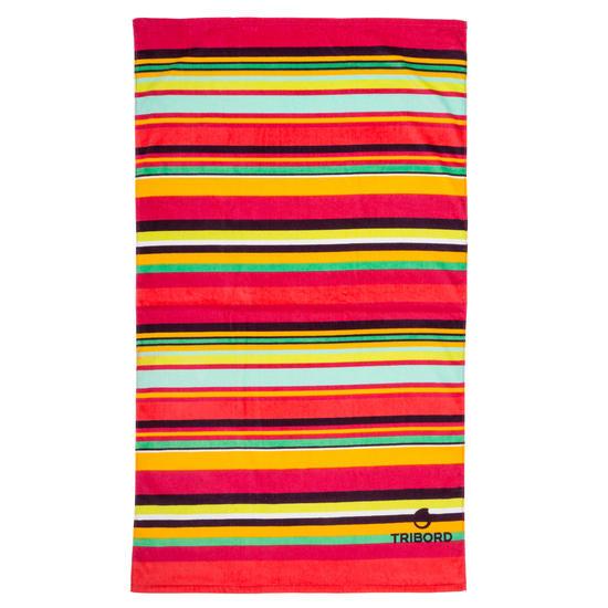 Handdoek Basic L print Rainbow Bluebird 145x85 cm - 1095401