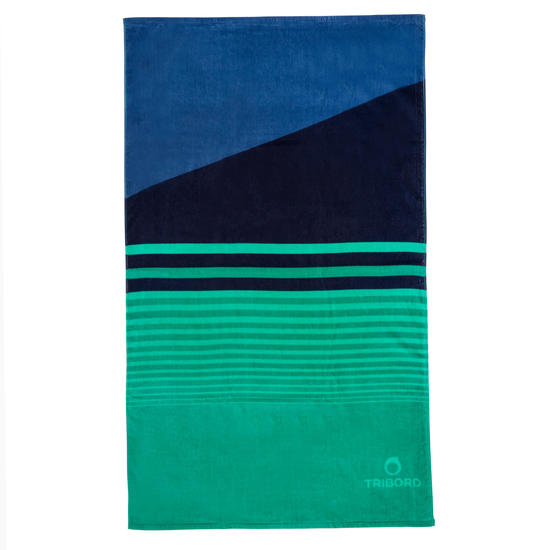 Handdoek Basic L print Rainbow Bluebird 145x85 cm - 1095404