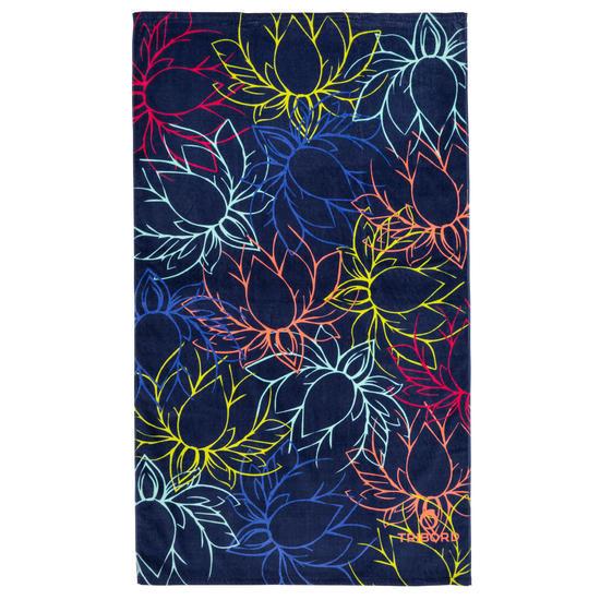 Handdoek Basic L print Rainbow Bluebird 145x85 cm - 1095417