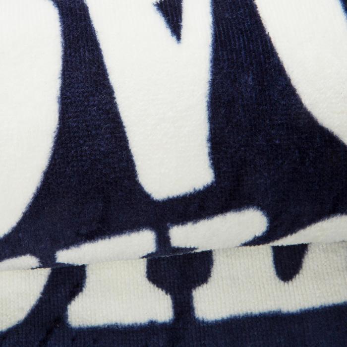Strandlaken groot print Surf blauw 145 x 85 cm