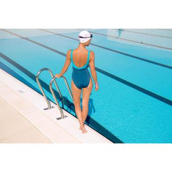 Maillot de bain de natation une pièce femme Loran corail - 1095446