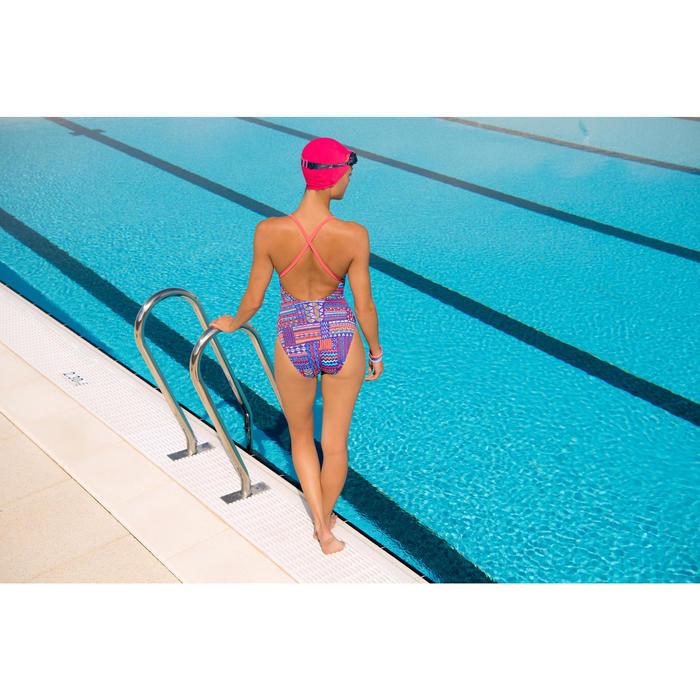 Maillot de bain de natation femme une pièce Riana bleu orange