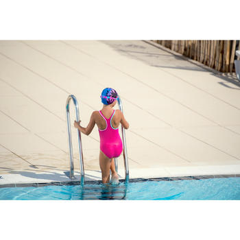 Meisjesbadpak Leony + voor zwemmen roze