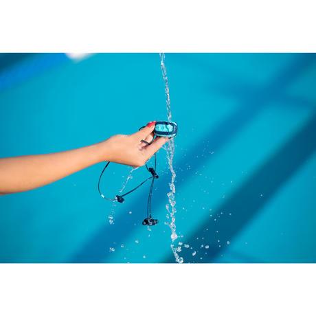Lecteur mp3 tanche swimmusic v1 1 rose avec couteurs et for Lecteur mp3 etanche piscine