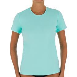 water camiseta anti-UV surf manga corta mujer turquesa