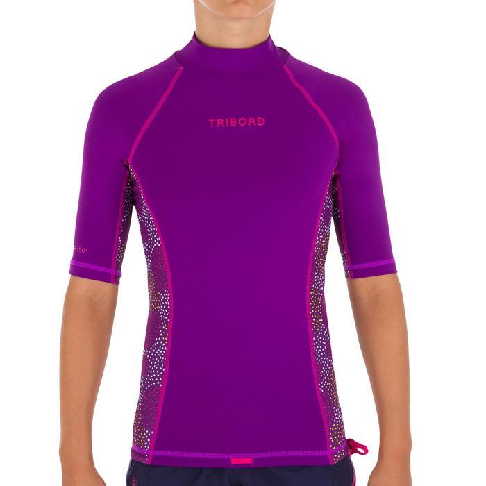 tee shirt anti uv surf top 500 Manches Courtes Enfant - 1095544