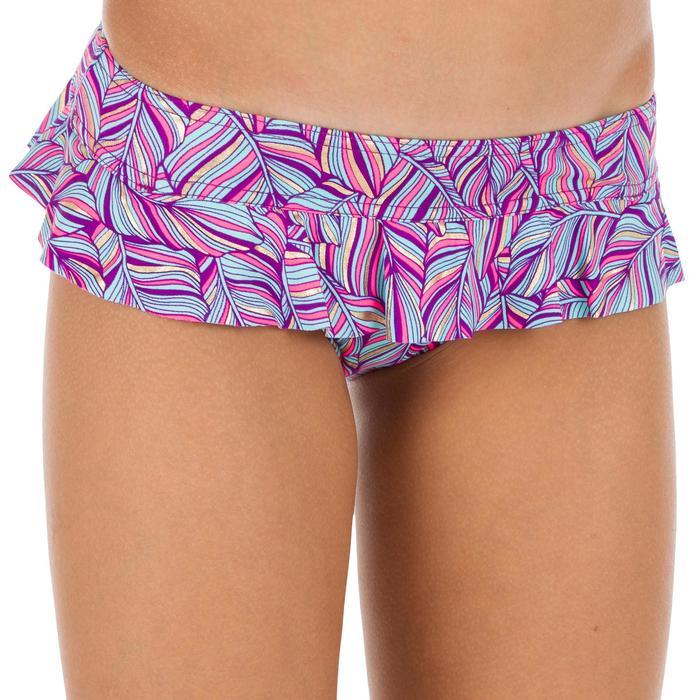 Bikini-Set Bandeau Palm Mädchen violett