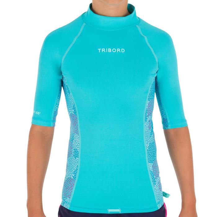 tee shirt anti uv surf top 500 Manches Courtes Enfant - 1095610