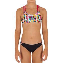 Bikini niña con sujetador top NDE ROJO