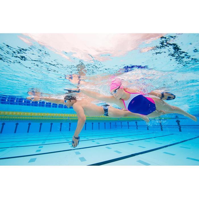 泳鏡500 SPIRIT,L號 - 黑色/灰色,鏡面鏡片