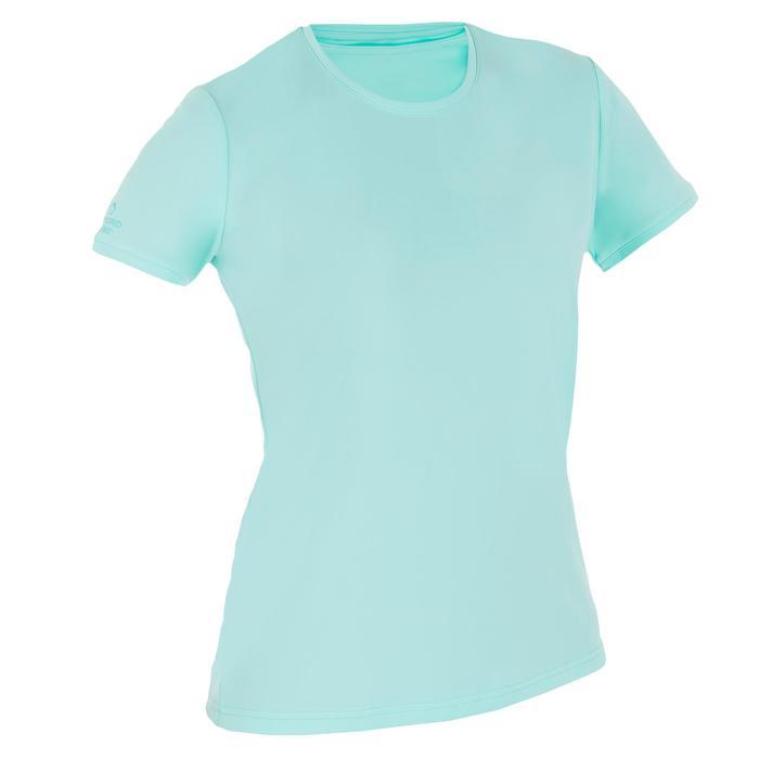 water tee shirt anti UV surf manches courtes femme - 1095722
