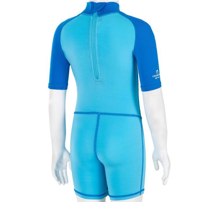 Uv-werende shorty met korte mouwen voor peuters Surf blauw