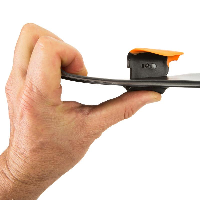 SWIMMING HAND PADDLES LARGE - BLACK ORANGE