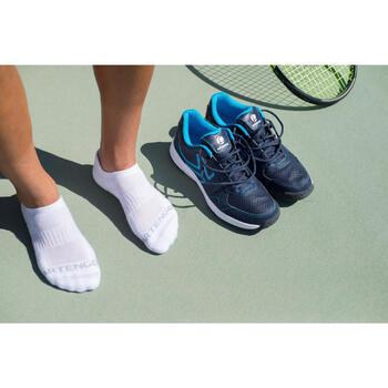 3雙入低筒網球運動襪RS 500-白色