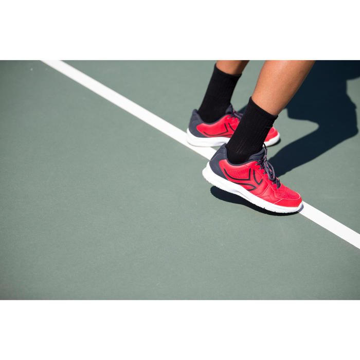 High Tennis Socks RS 500 Tri-Pack - Black