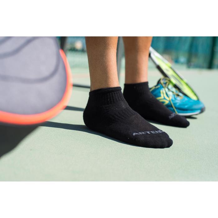 Halfhoge sportsokken voor volwassenen RS800 zwart 3 paar