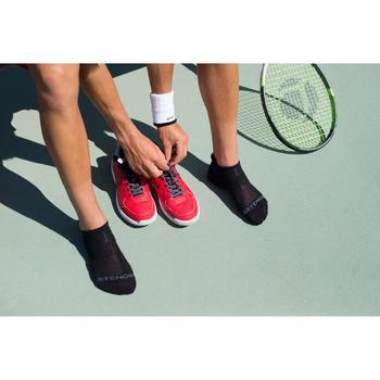 3雙入低筒網球運動襪RS 500-黑色