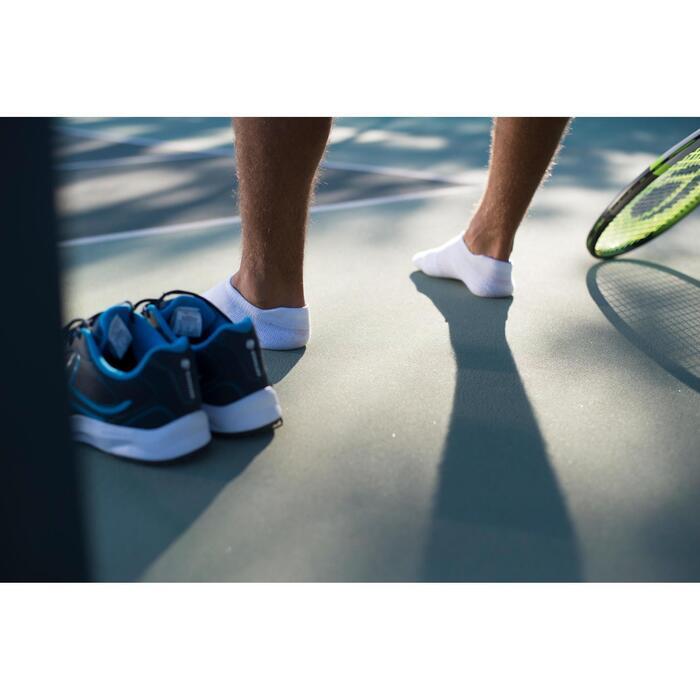 Tennissocken RS 500 low 3er-Pack türkis/blau