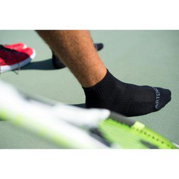 Tennissokken RS 500 mid zwart 3 paar