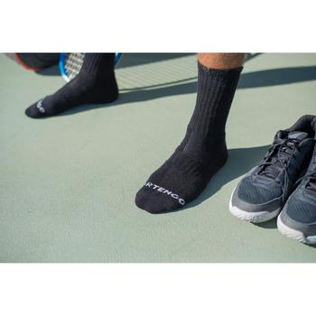 3雙入高筒網球運動襪RS 500-黑色