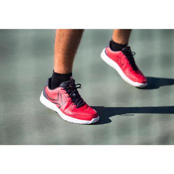3雙入中高筒網球運動襪RS 500-黑色