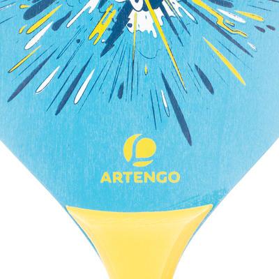 مجموعة مضارب خشبية و كرة للشاطئ ARTENGO - لون أزرق