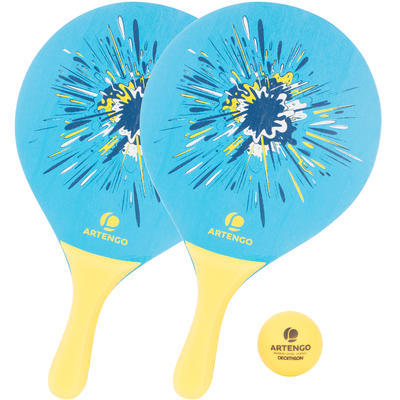 Woody Beach Tennis Racket Set - Blue