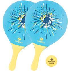 Set raquetas tenis playa woody rackets Azul