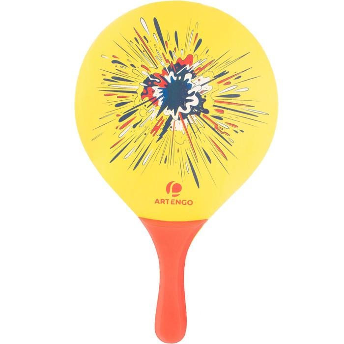 Set raquettes Beach Tennis woody rackets Jaune