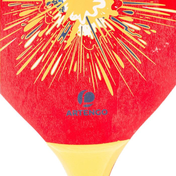 Set raquetas tenis playa woody rackets rojo