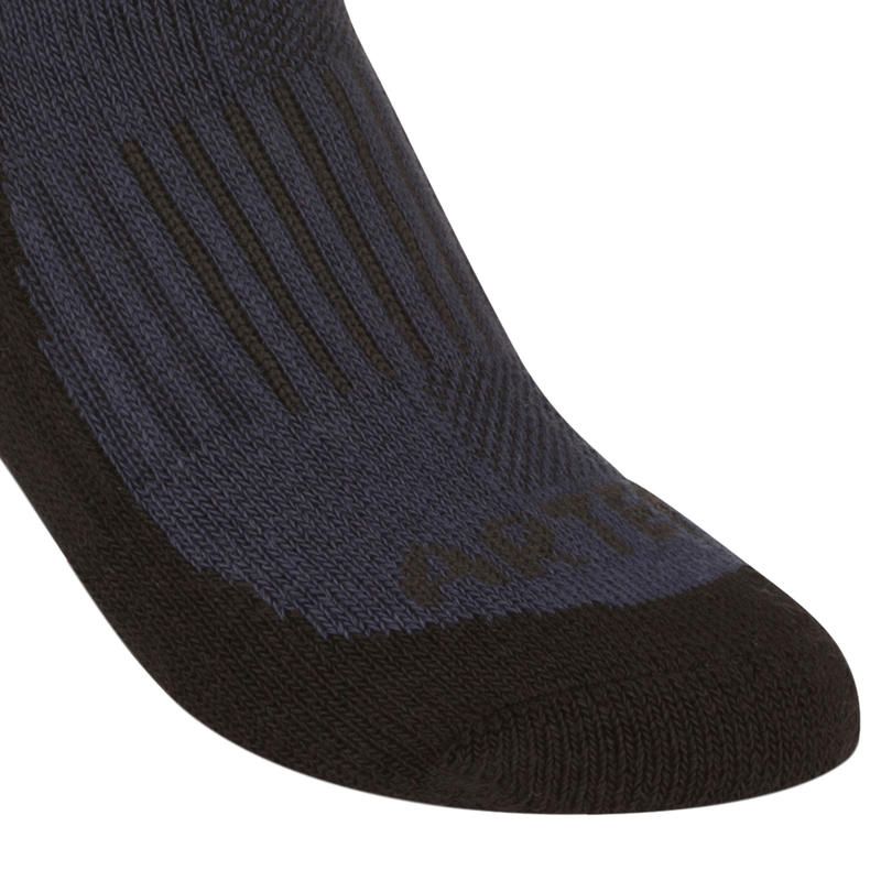 Kids' High Tennis Socks RS 500 Tri-Pack - Navy