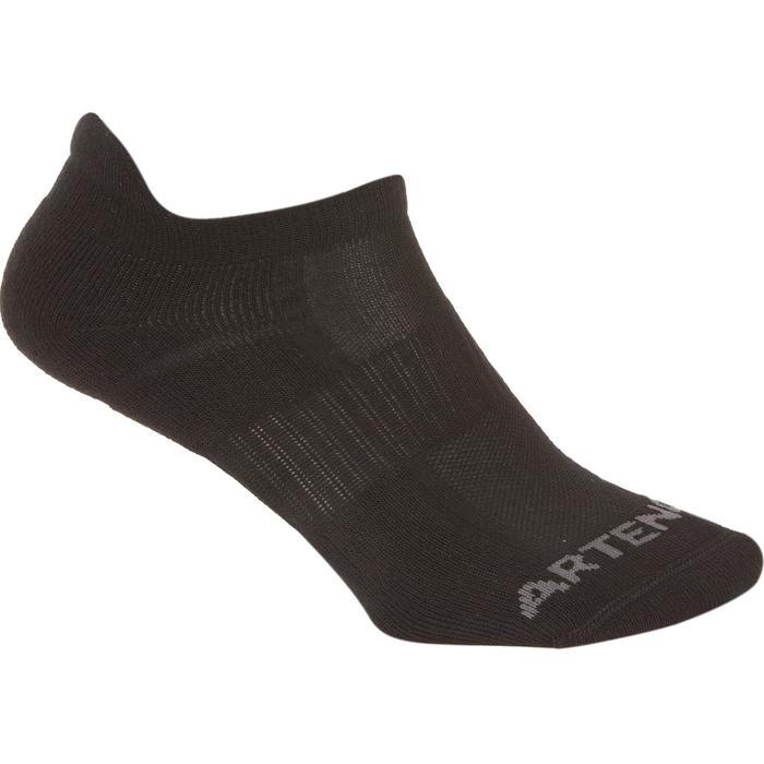低筒運動襪RS 500(3雙入)-黑色