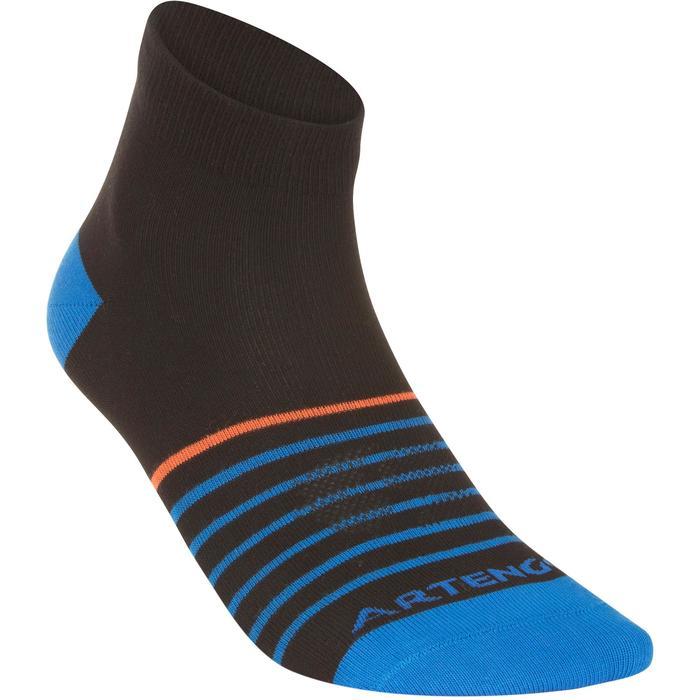 Halfhoge sportsokken teen Artengo RS 160 zwart/blauw 3 paar