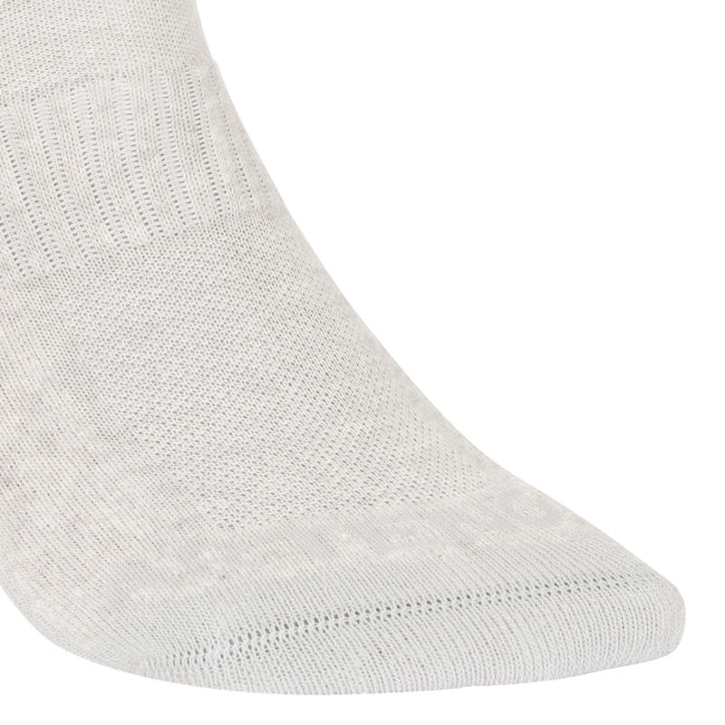 Socks RS 500 Adult Mid Tri-Pack - Mottled Grey