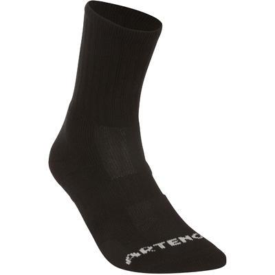 High Tennis Socks RS 500 Tri-Pack - Black