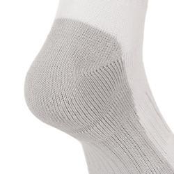 3雙入兒童款高筒網球運動襪RS 500-白色