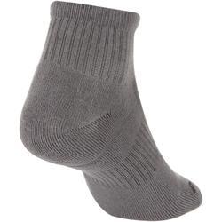 RS 500 Adult Mid Sports Socks Tri-Pack - Grey