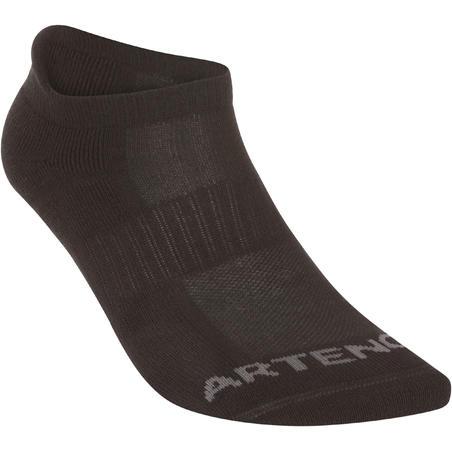 Низькі шкарпетки 500 для тенісу, 3 пари - Чорні