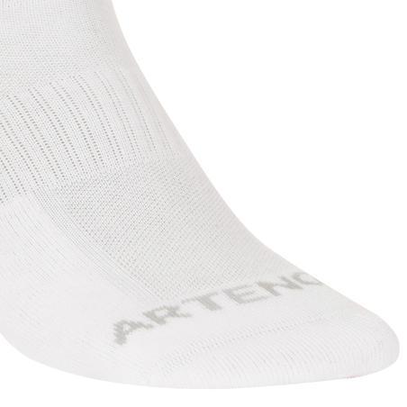 Середні шкарпетки 500 для тенісу, 3 пари - Білі