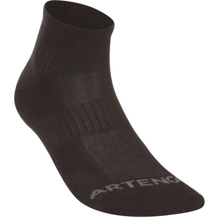 Mid-High Tennis Socks RS 500 Tri-Pack - Black